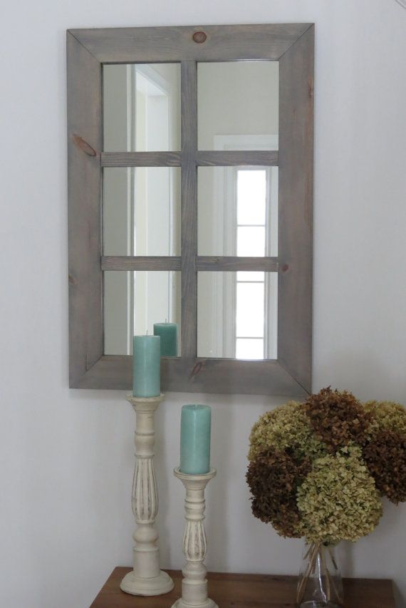 Rustic Window Pane Mirror By Midatlanticrustic On Etsy 100 00