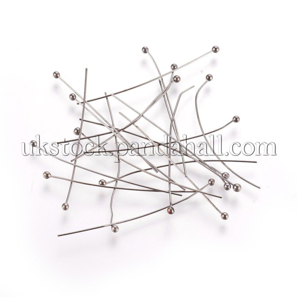 Wholesale 100Pcs Silver//Golden//Bronze//Copper Plated Head Pins Needles Findings