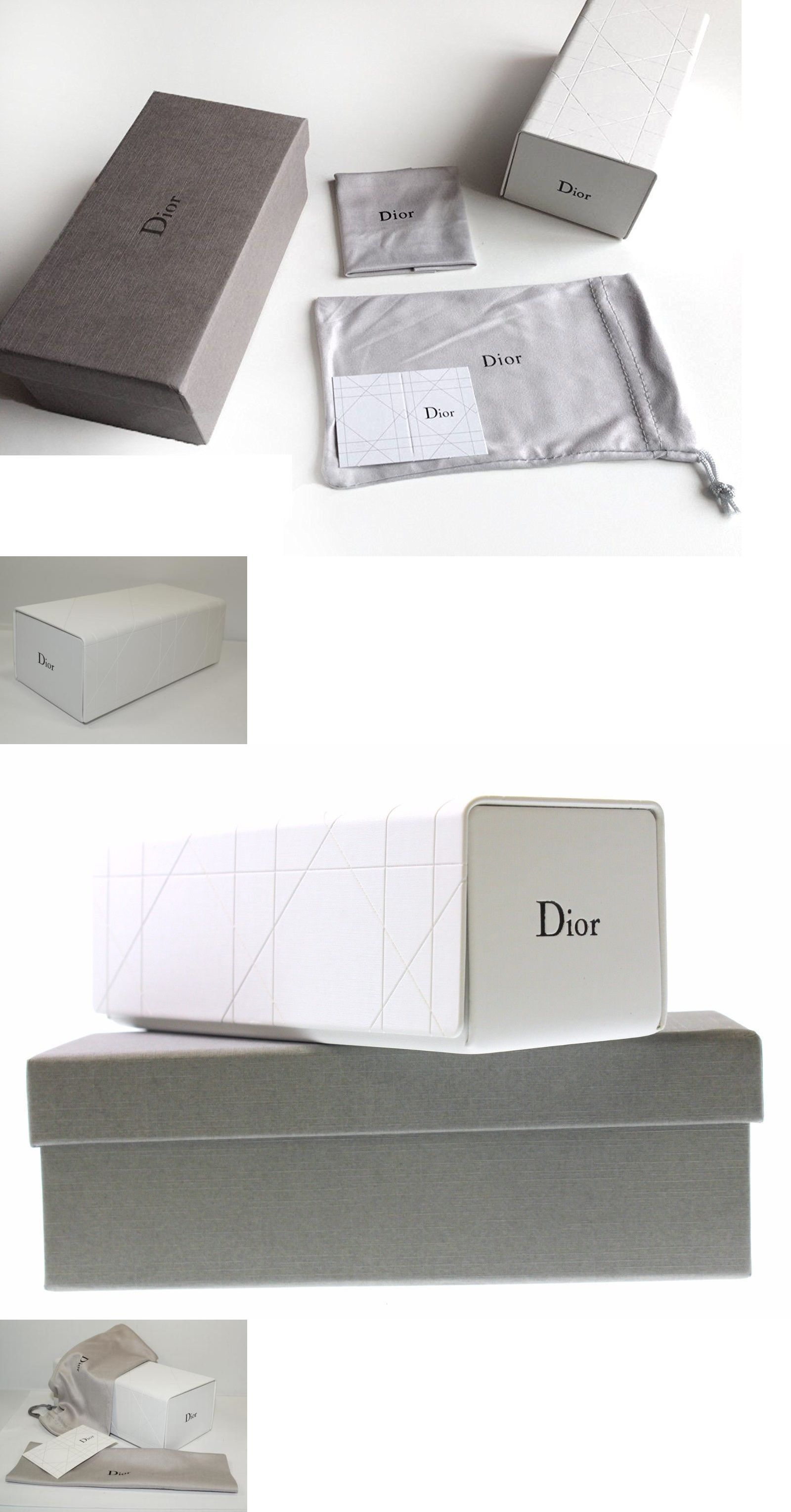 7e5c39d0a96b Eyeglass Cases  14 X Dior  Classic  White Grey Large Small Women Sunglasses  Case