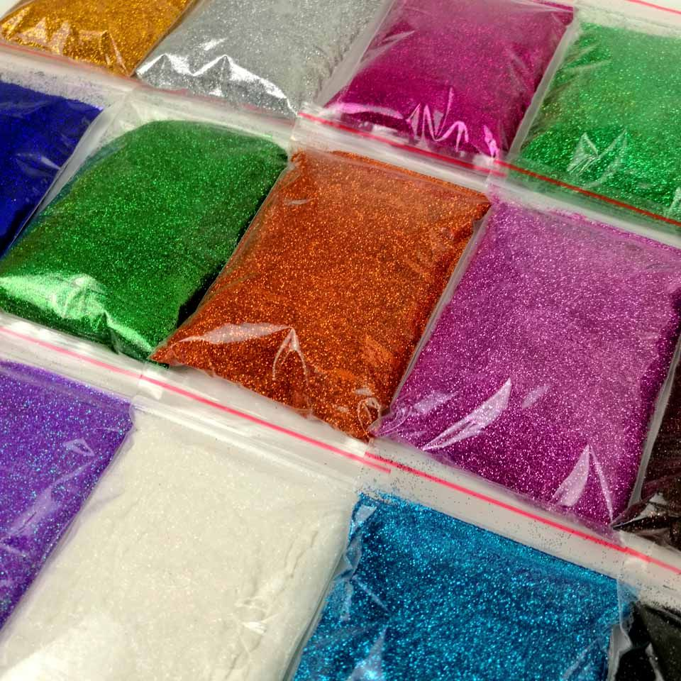 50g Holographic Glitter Powder Colored Metallic Powder Tinsel ...