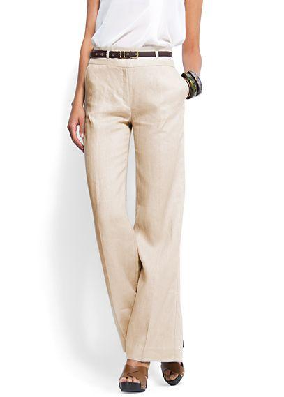 Wide-leg linen trousers - Mango Spring 2012