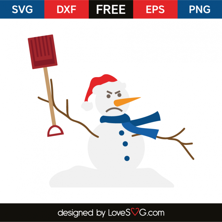 Snowman shovel (With images) Christmas svg files, Free
