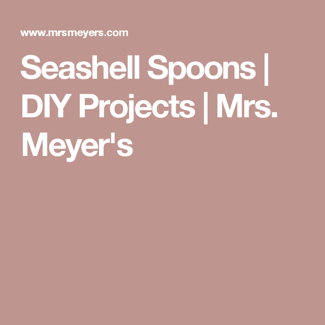 Seashell spoons diy projects mrs meyers beach crafts seashell spoons diy projects mrs meyers solutioingenieria Gallery