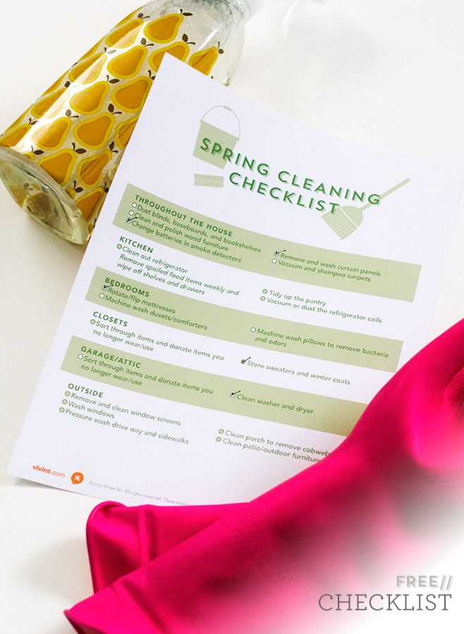 Printable Spring Cleaning Checklist Cleaning checklist, Helpful