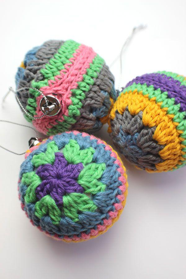 Crochet Christmas Bauble. Free Pattern & Tutorial!!