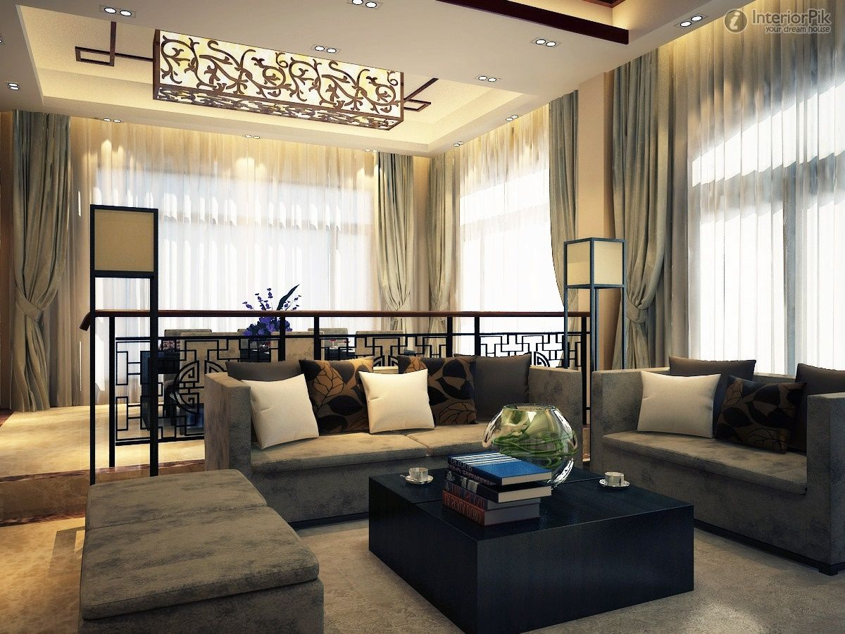 new chinese gray and white living room styles for design ideas with modern gray fabric sofa complete with the pillows and simple square shaped black wood - Chinese Living Room Design