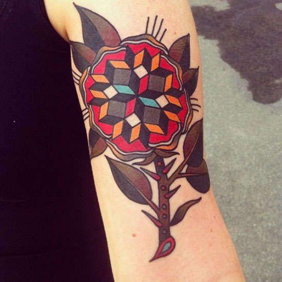 Classic Geometric Tattoos Geometric Traditional Tattoo Tattoos Geometric Tattoo