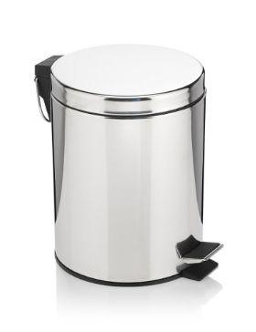 5lt round pedal bin | m&s | bathroom essentials, round