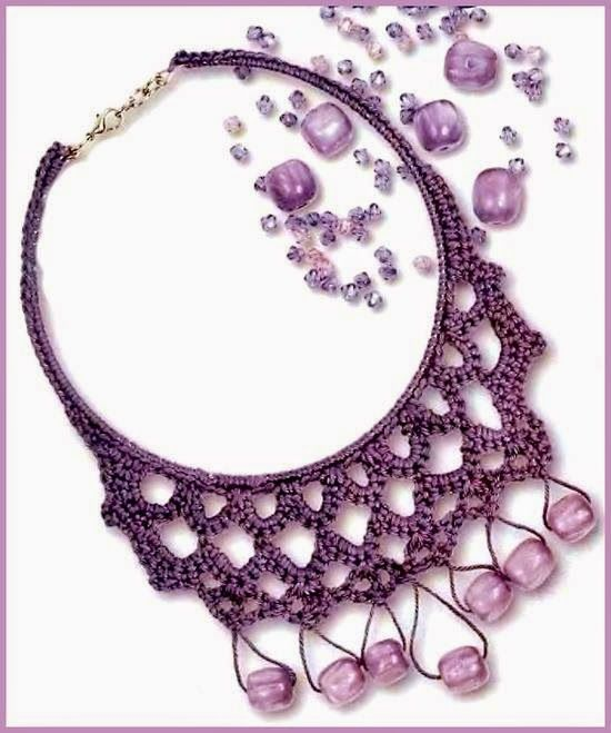 Pin de Angeles Carcedo en collares | Pinterest | Croché, Ganchillo y ...