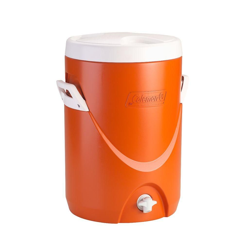 Coleman 5 gal. Beverage Cooler, Orange- The Home Depot