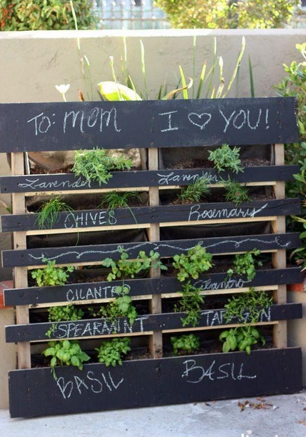 Herb Garden Ideas For A Balcony pallet ideas vertical garden balcony herb garden mothers day gift