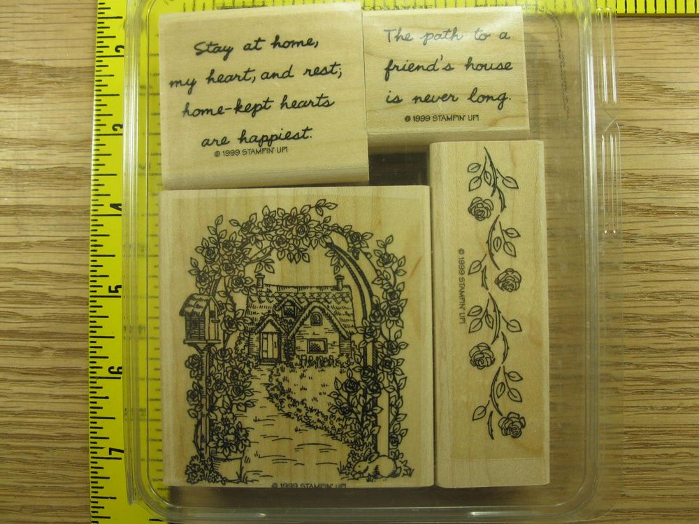 Stampin' Up! Rubber Stamp Set English Cottage #B49 #StampinUp