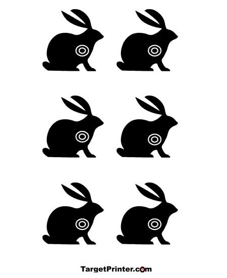 photograph about Printable Animal Targets called Printable Rabbit Bunny Capturing Concentration Archery Capturing