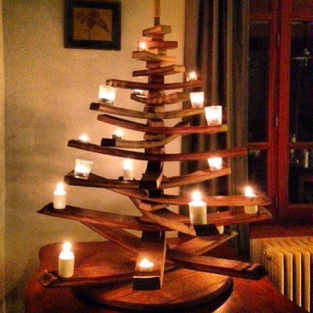 Wine barrel stave christmas tree ideas pinterest