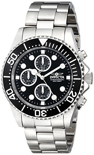 Men's Wrist Watches - Invicta Mens 1768 Pro Diver Collection Stainless Steel Watch with Black Dial >>> You can get more details by clicking on the image. (This is an Amazon affiliate link)