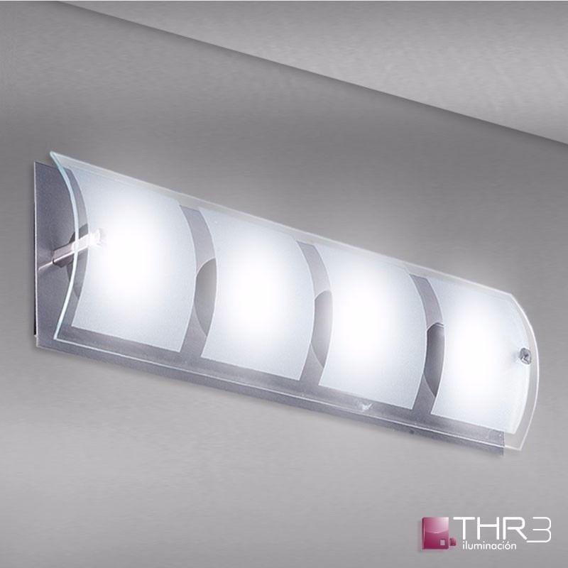 Thr3 iluminacion aplique 2 luces bipin ideal ba os pasillos ba os iluminaci n luces ba os - Iluminacion ideal para banos ...