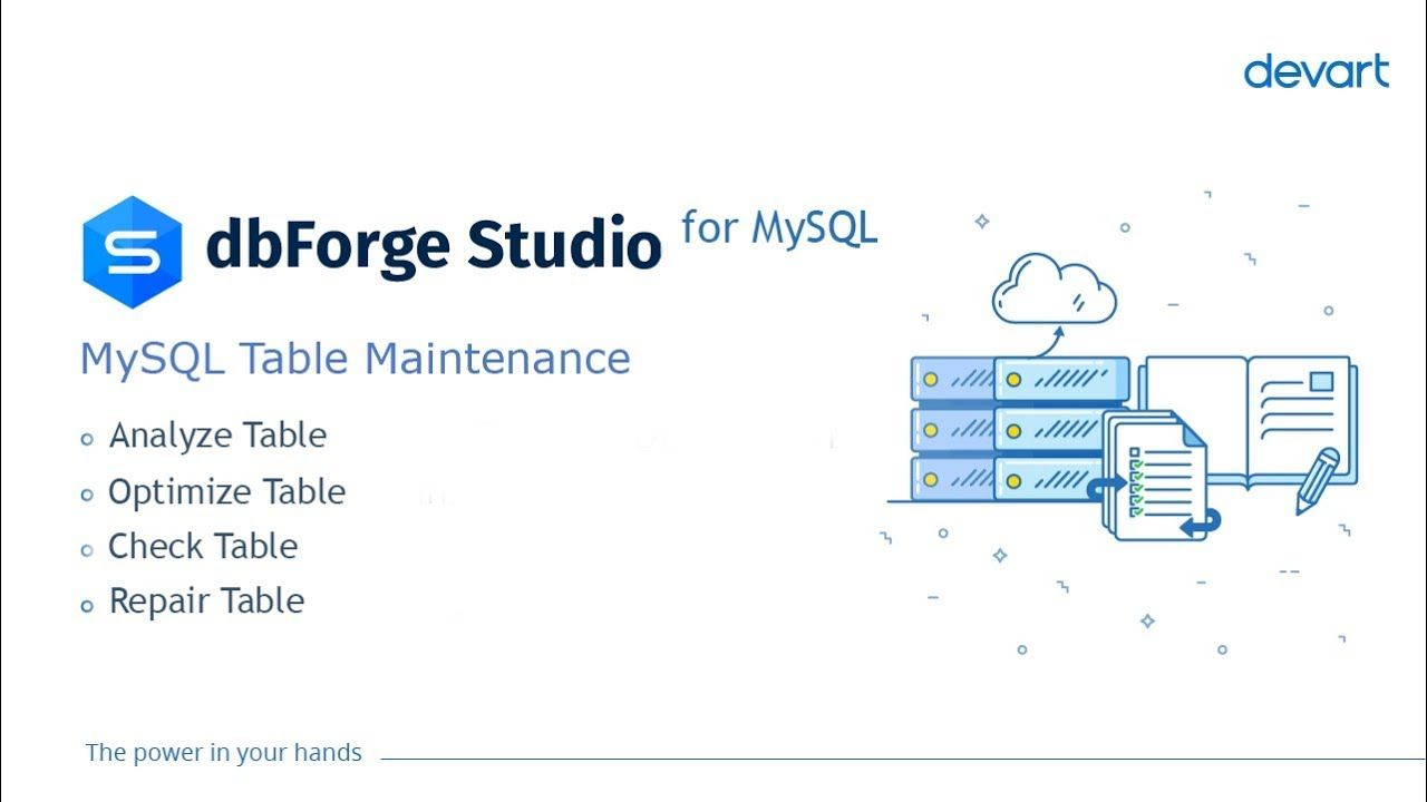See How To Perform Mysql Maintenance With The Help Of Dbforge Studio For Mysql The Table Maintenance Wizard Allows Performing The Fo Mysql Studio Optimization