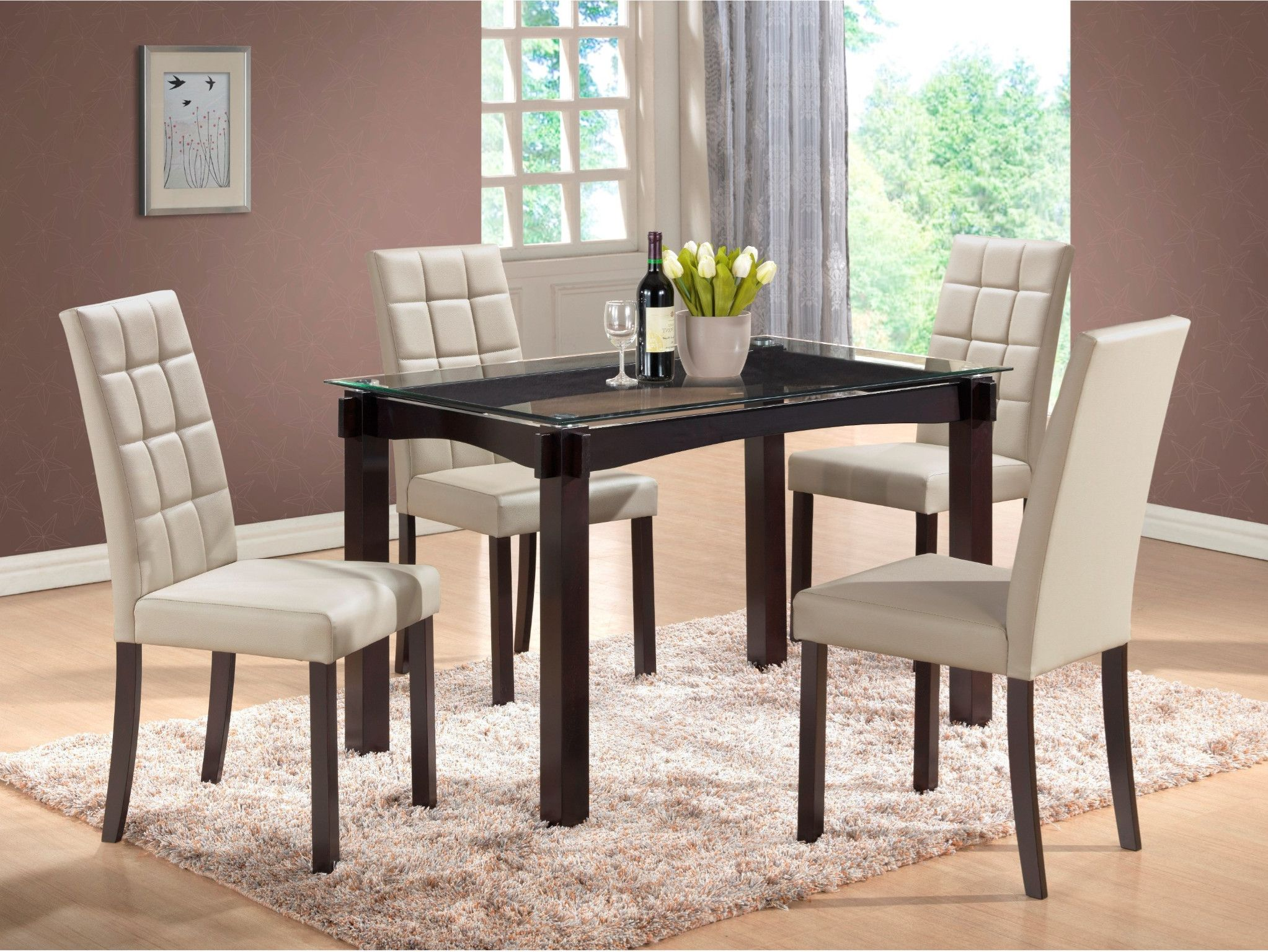 Zora 5 Piece Dinette Table And 4 Chairs 399 00 Table 36 X 60 X 30 H C M 1220 Gy Furniture Clearance Dinette Tables Furniture