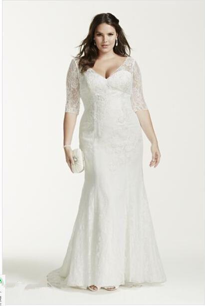 addffae915c Lace White Ivory Wedding Dress Bridal Gown Plus Size Custom 18 20 22 24 26  28 30