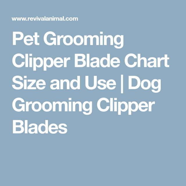 Pet Grooming Clipper Blade Chart Size And Use Dog Grooming Clipper