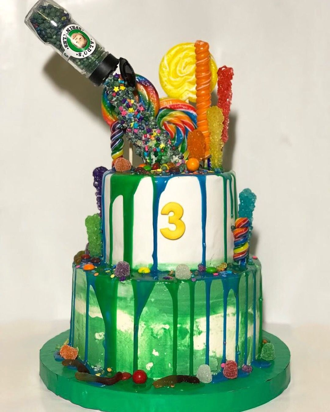 Gravity defiance sprinkles cake cake sprinkle cake