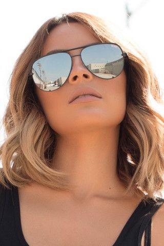 a1031b7936 Quay X Desi High Key Sunglasses in Black Gafas De Sol, Lentes Espejo,  Espejos