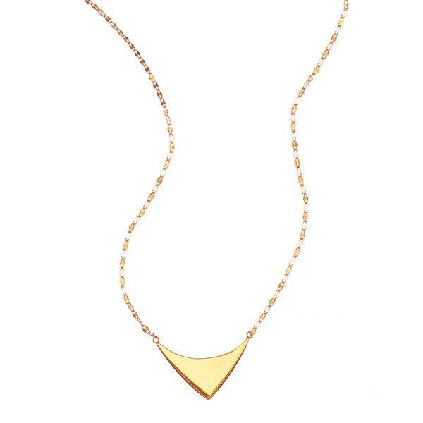 Lana 14k Elite Reflector Triangle Pendant Necklace Gold Triangle Necklace Flat Gold Necklace 14k Gold Pendants