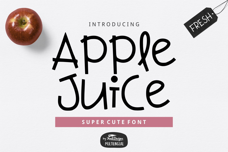 Apple Juice Fun Font Cute fonts, Cool fonts, Apple juice