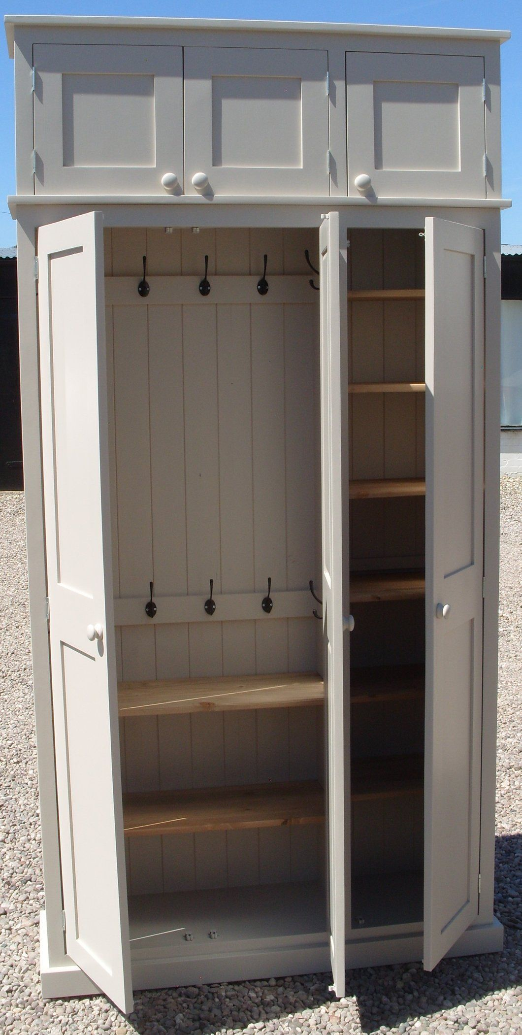 3 Door Hall Cupboard With Extra Top Storage Cupboard Storage Hall Cupboard Hallway Storage