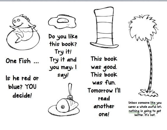 Free Printable Bookmarks to Coloring Dr Seuss - Bing Images - best of dr seuss quotes coloring pages