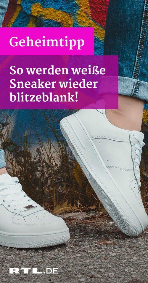 putzen weiße Sneakers richtig Sie Strahlend sauberSo FKcT1lJ