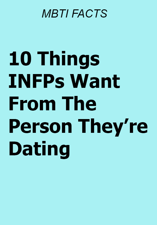 1  Meaning INFPs are meaning-driven people  Everything in