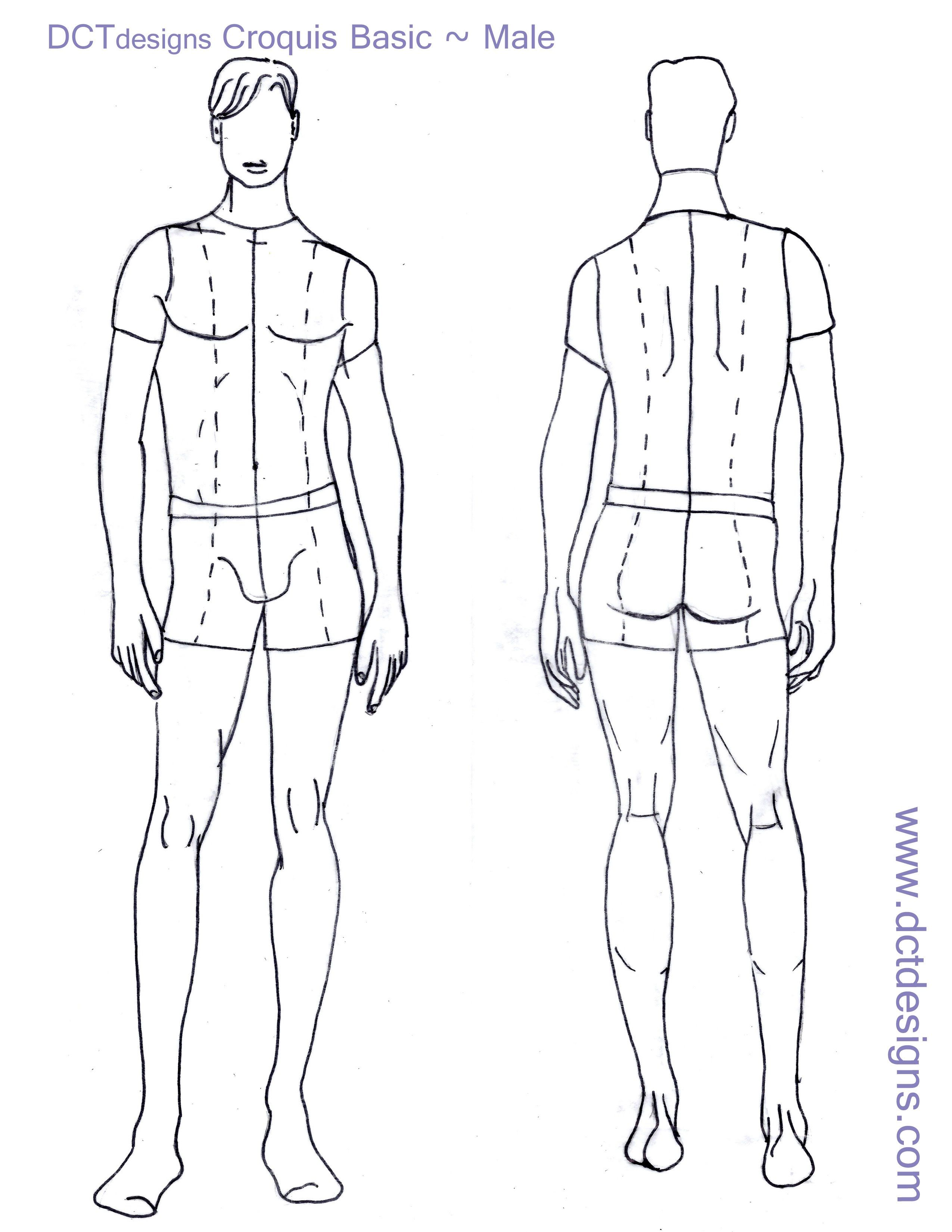 Fashion Design Template - Man.jpg (2550×3300) | drawing | Pinterest ...
