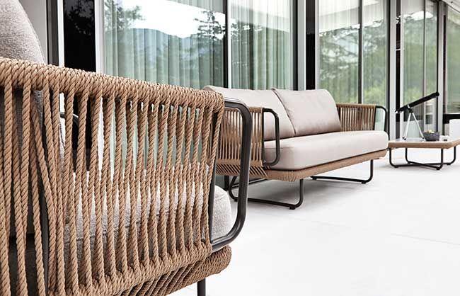 Divano fibre intrecciate babylon monovolume architecture