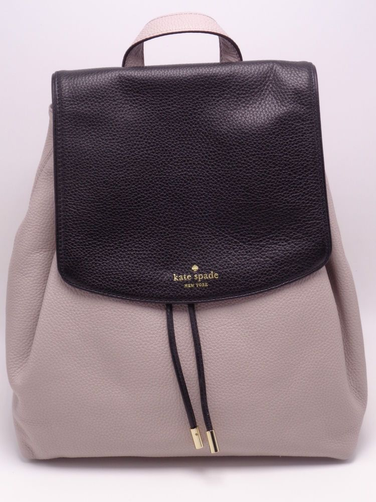 KATE SPADE Medium BREEZY MULBERRY STREET Blk/Moussfrost BACKPACK ...