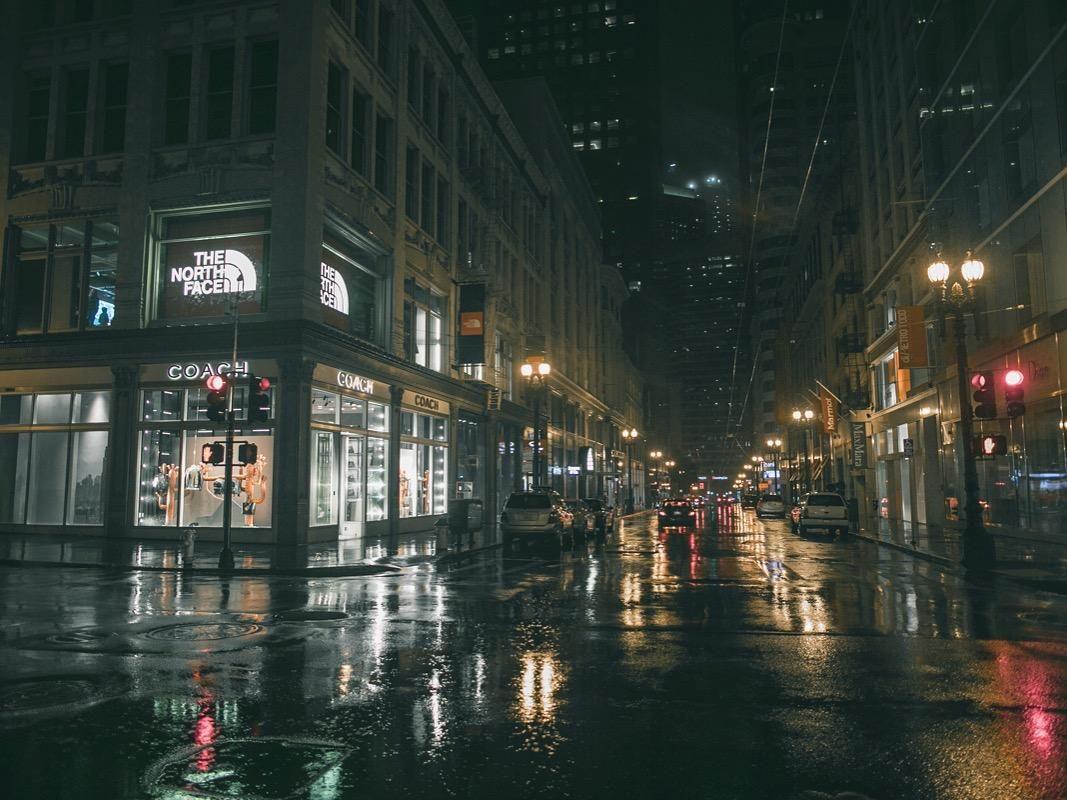 Rainy Night Downtown San Francisco Ca 1067x800 Oc Rainy Night City Pictures Downtown