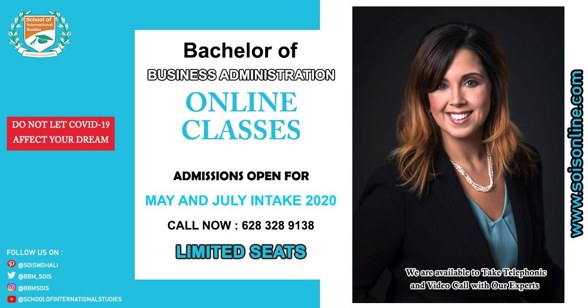 Admissions Open For International Bachelor Of Business Administration May July 2020 International Education Business Administration Colleges And Universities