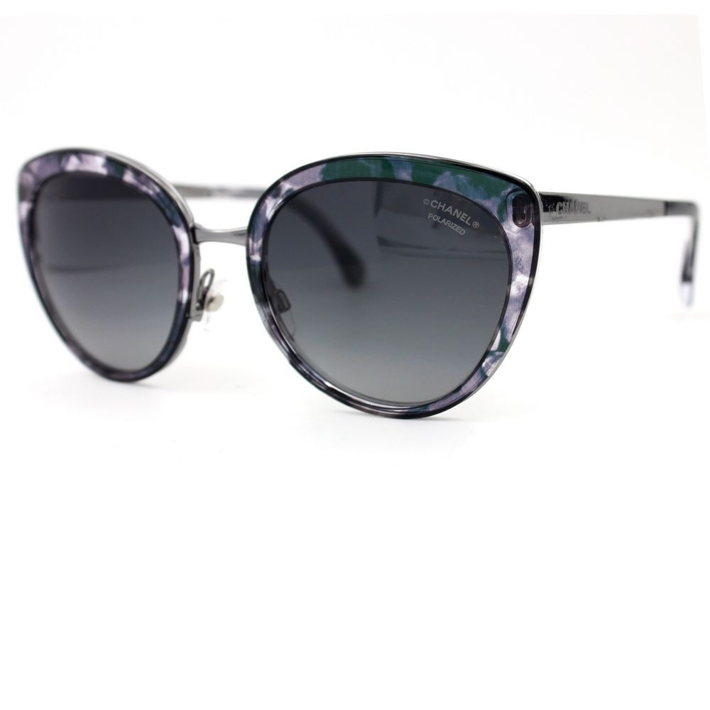 CHANEL Butterfly Sunglasses Multicolor Blue Frame, Blue Polarized ...