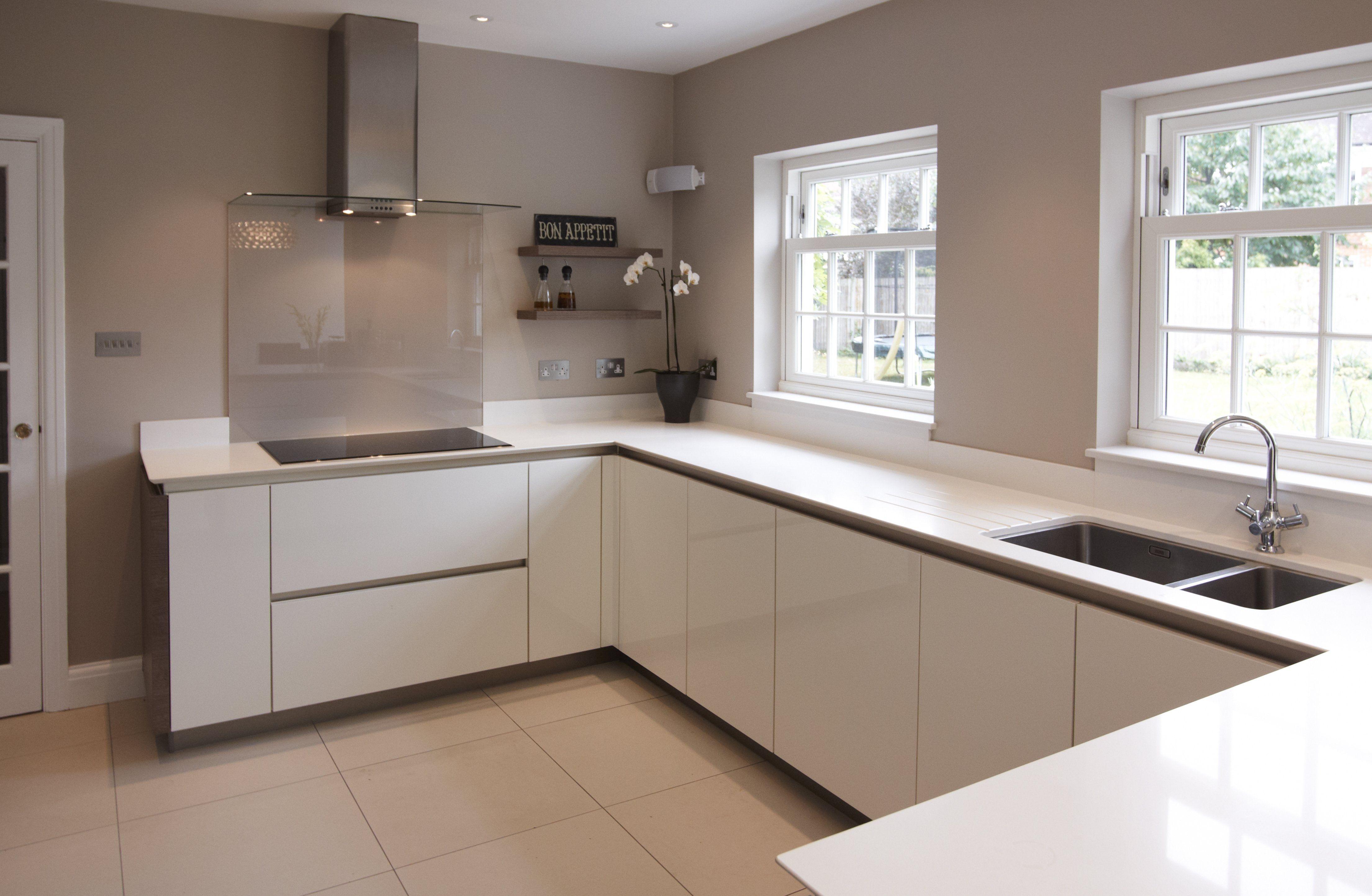 White Gloss Kitchen Cabinets Design | Weiße küchenschränke ...