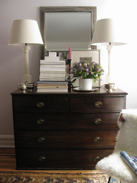 How To Dress A Dresser Dresser Top Decor Dresser Styling
