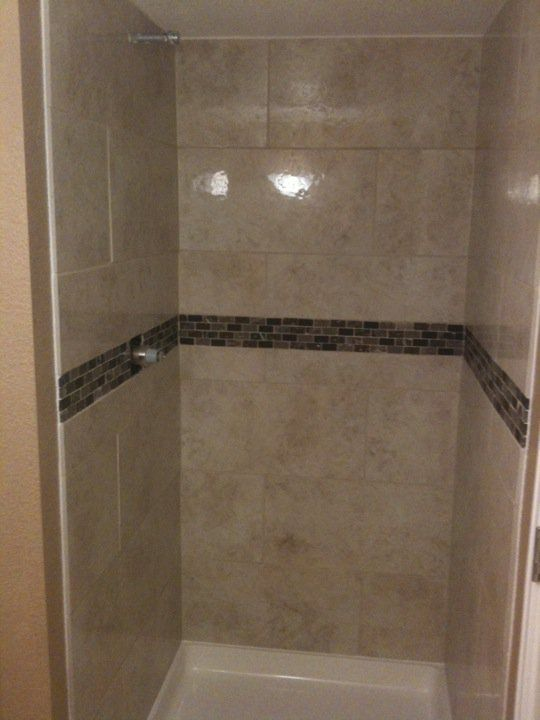 Small 36x36 Shower Decided To Use 12x24 Tile Small Tile Shower Shower Tile Tile Bathroom