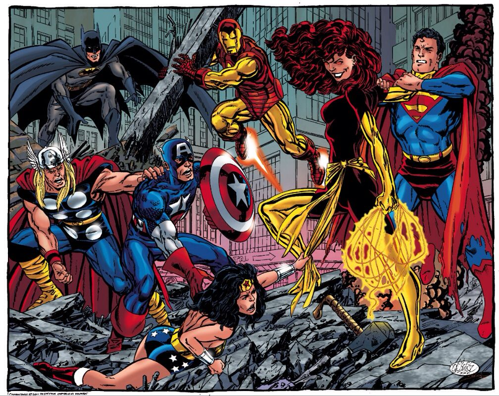 Phoenix Vs Jla Avengers Comics Love Marvel Dc Comics Art