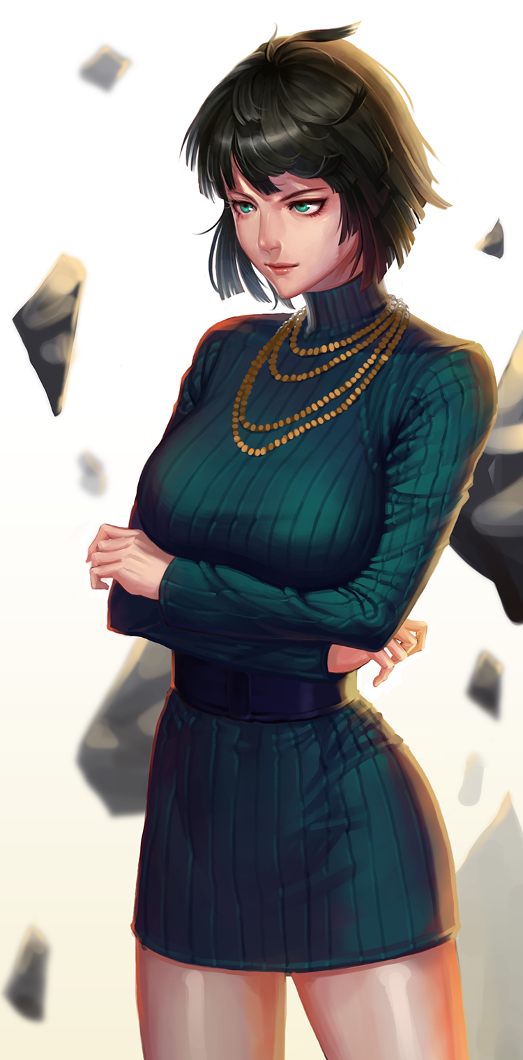 Makeup for black dress green eyes  One Punch Man  Fubuki  opm  Pinterest  Anime