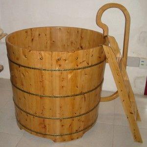 Bañera de madera Tianjin - Bañeras de patas y decoración ...