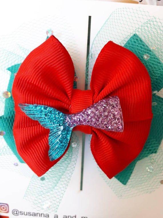 A Little Mermaid Inspired Hair Bow