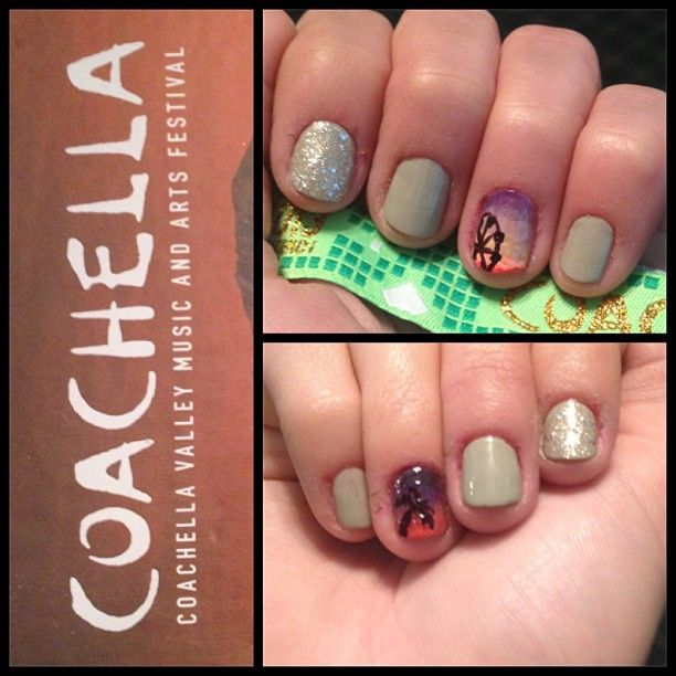 Coachella Nail Art: Coachella Nails! Just Used A Makeup Sponge To Blend The