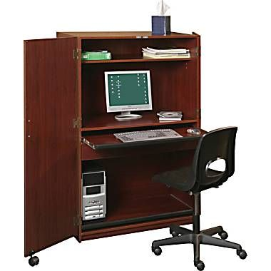 Balt Office In A Box All In One Workstation Mahogany 89832