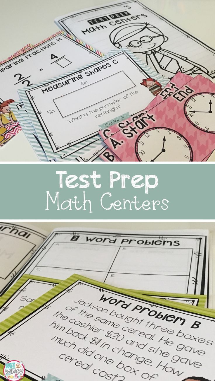Test Prep Third Grade Math Centers | Comparing fractions, Elapsed ...