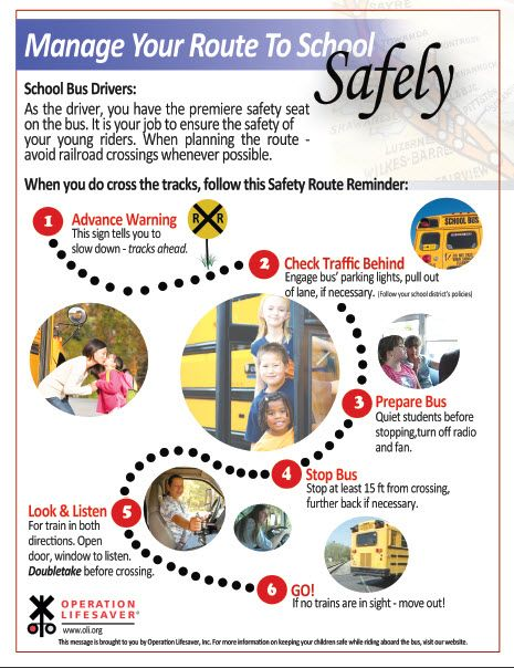 Our Manage Your Route to School Safely poster helps school bus