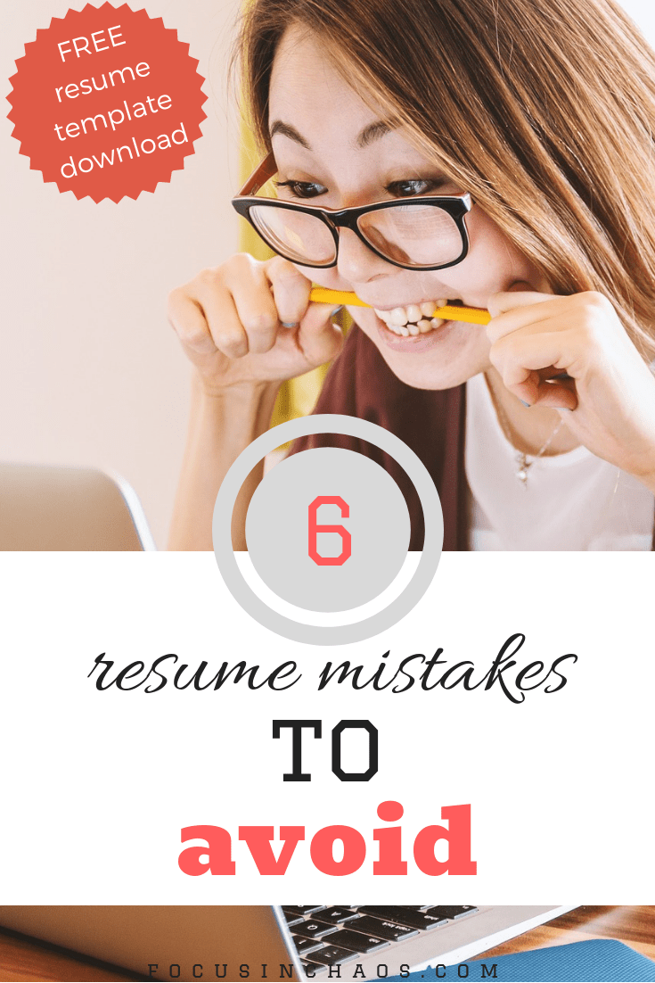 6 Mistakes You Re Making On Your Resume Interviewing Pinterest